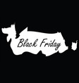 black friday logo - seasonal discount shopp vector image vector image