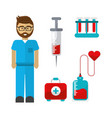 blood donation tools icon