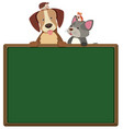 border template with cute pets vector image