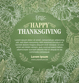 chalk Thanksgiving background vector image
