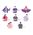 characters cartoon people man woman different vector image