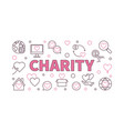 charity concept horizontal or vector image vector image