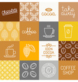 chocolate cocoa and coffee icons vector image vector image