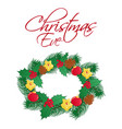 christmas eve greeting card or square banner vector image vector image