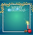 christmas template for postcard or discount vector image vector image