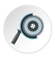Circular saw icon flat style vector image vector image