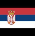 close up flag serbia vector image vector image