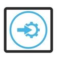 Cog Integration Framed Icon vector image vector image