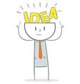 creative businessman vector image vector image