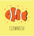 cute card with clown fish vector image