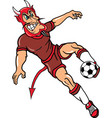 devil sports soccer logo mascot vector image vector image