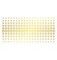 Diamond gold halftone matrix