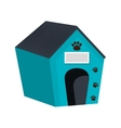Dog house wooden isolated icon vector image