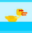 duck in shock cartoon style frightened eyes panic vector image vector image