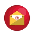 envelope email with arroba symbol vector image vector image