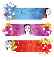face banners vector image