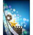 filmstrip background vector image vector image
