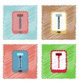 flat icon design collection screw sign in vector image vector image