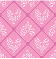 Floral pink pattern heart background seamless swir vector image vector image
