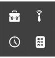 Four Modern flat social icons set vector image