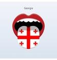 Georgia language Abstract human tongue vector image vector image