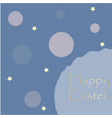 happy easter congratulations card with stars vector image vector image