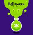 happy halloween party flyer template design vector image