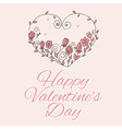 heart with flowers on valentines day vector image vector image