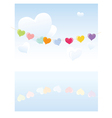 Hearts on a rope vector | Price: 1 Credit (USD $1)