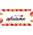 hello autumn red orange leaves background i vector image vector image