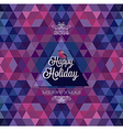 hipster Happy holiday dark2 vector image vector image