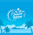 holidays background summer vacation travel beach p vector image
