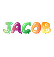 jacob written with alphabet balloons vector image