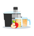 juicer or blender for making juices and fruit vector image vector image