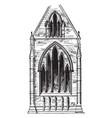 lancet windows earliest period vintage engraving vector image vector image