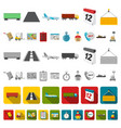 logistics service cartoon icons in set collection vector image vector image