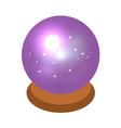 magic sphere icon isometric style vector image vector image