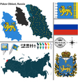 Map of Oblast of Pskov vector image vector image