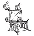 medieval arm chair vintage vector image vector image