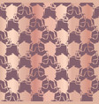 metallic rose gold polka dots pattern seamless vector image vector image