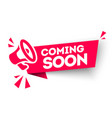 modern red banner ribbon coming soon vector image vector image