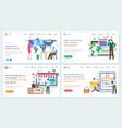 online trading platform b2b marketplace website vector image