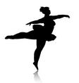 overweight ballerina silhouette vector image vector image