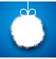 Paper christmas ball vector image