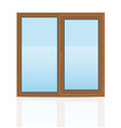 plastic window 06 vector image vector image