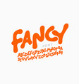 playful kids style font vector image vector image