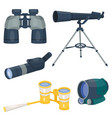 professional camera lens binoculars glass look-see vector image