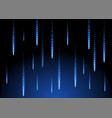 rain blue shape background space geometric of vector image vector image