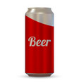 realistic beer can vector image