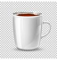 realistic mug cup coffee side view vector image